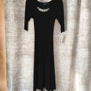NWT NINA LEONARD BY LENNIE BLACK DRESS